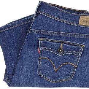 Levi's 515 Skimmer Capri Jeans Size 10 Cropped 32
